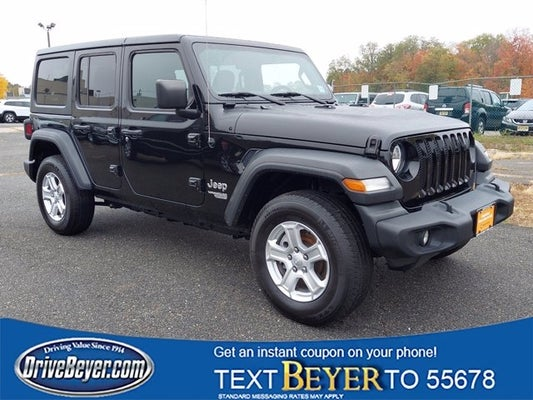 Jeep Wrangler Unlimited Sport >> 2018 Jeep Wrangler Unlimited Sport S 4x4 Morristown Nj Randolph
